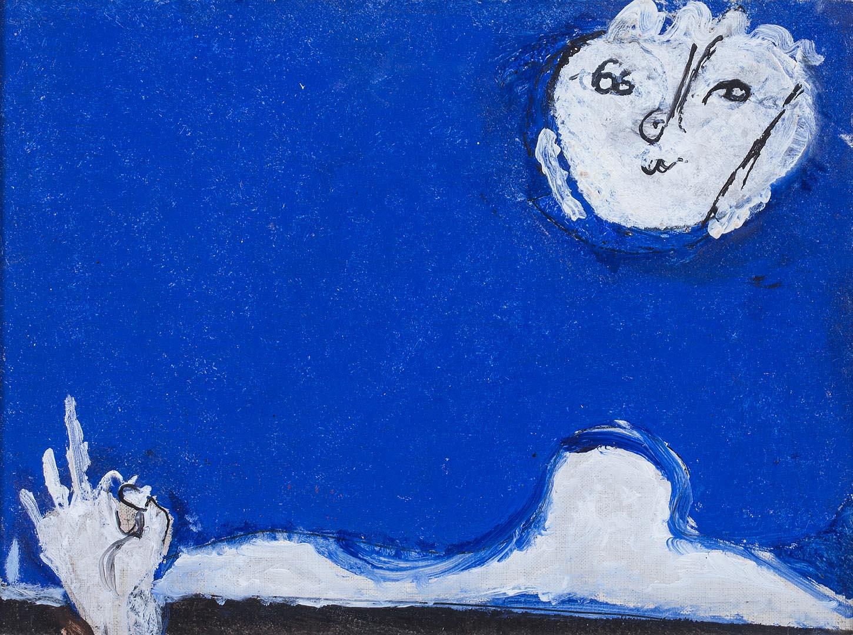 Amalassunta su fondo blu - Osvaldo Licini